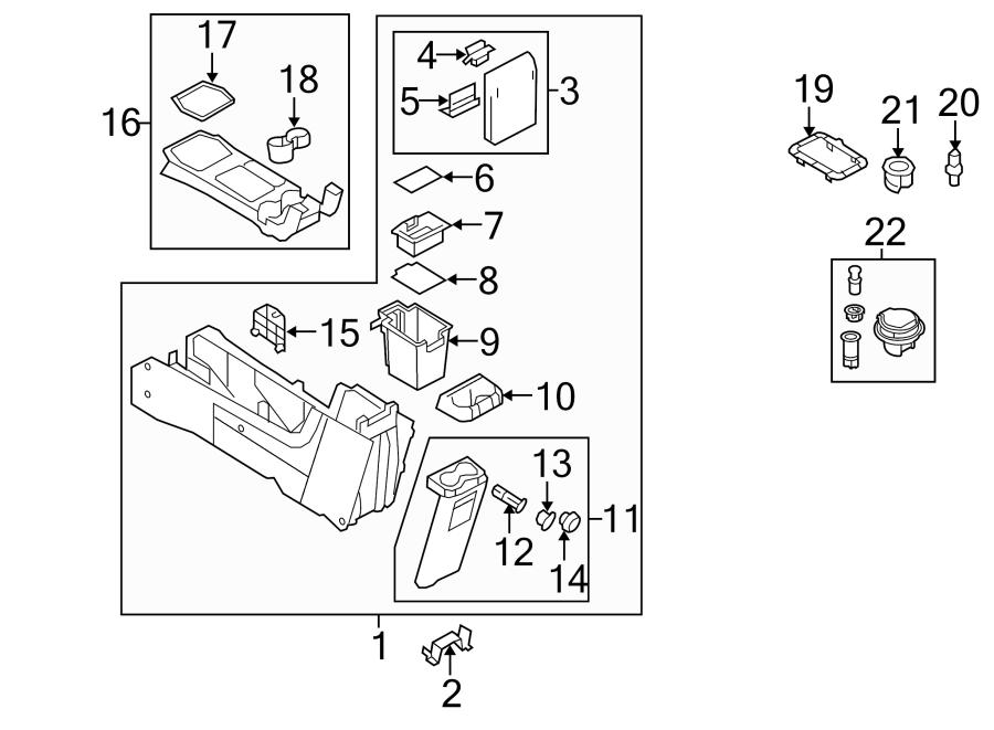 Ford Escape Console Trim Panel. XLS, w/o SYNC, w/auto