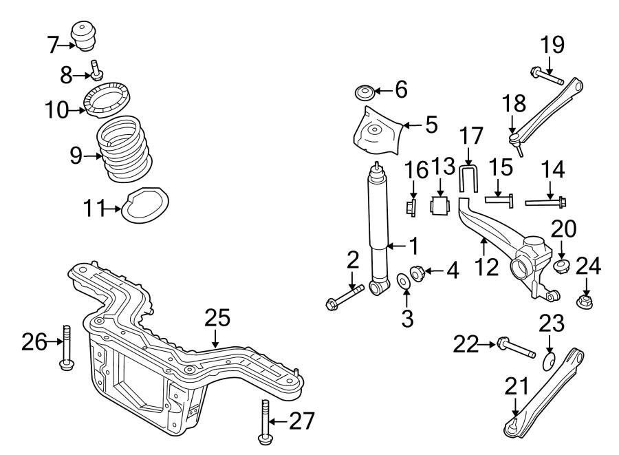 Ford Escape Suspension Trailing Arm. Left, DRIVE, WHEEL