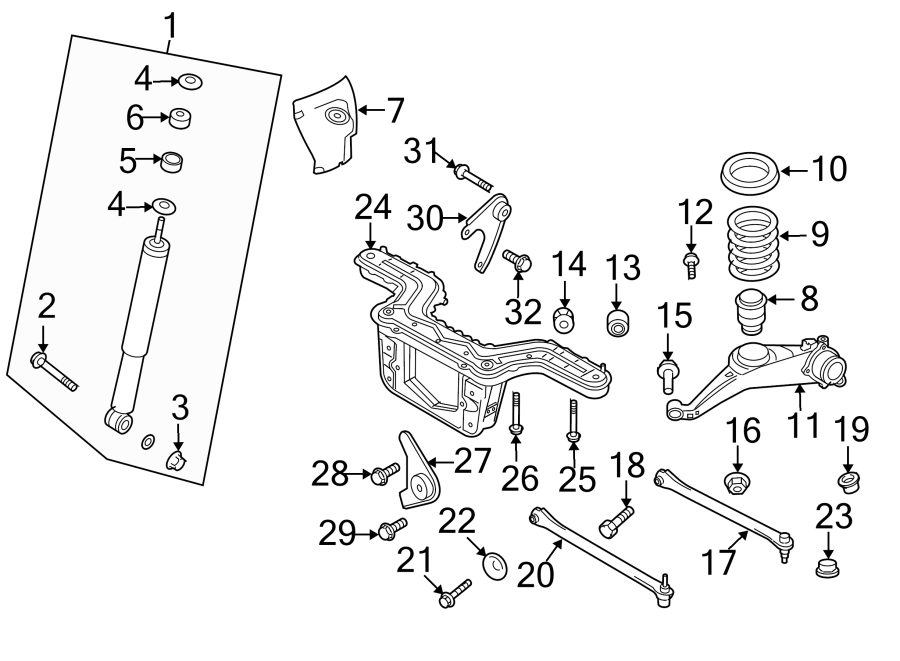 Ford Escape Alignment Camber Adjusting Eccentric. Wheel