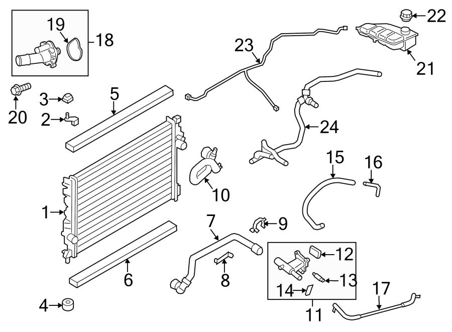 Ford Escape Insulator. Radiator. (Upper, Lower