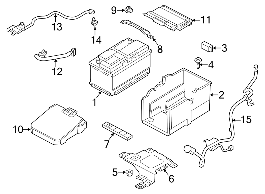 2014 Ford Transit Connect Battery Cover (Front). Front, 2
