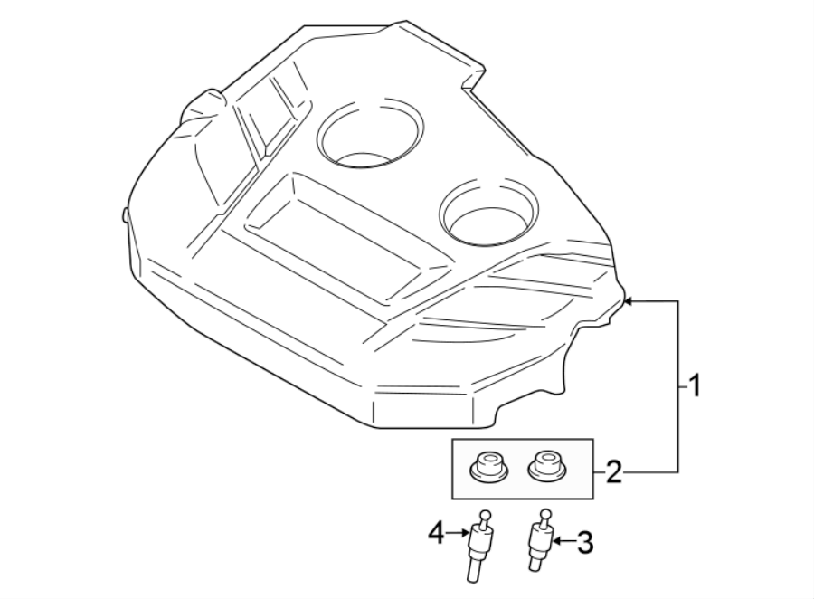 Ford Escape Engine Cover. 2.0 LITER TURBO. 2.0 LITER, 2015