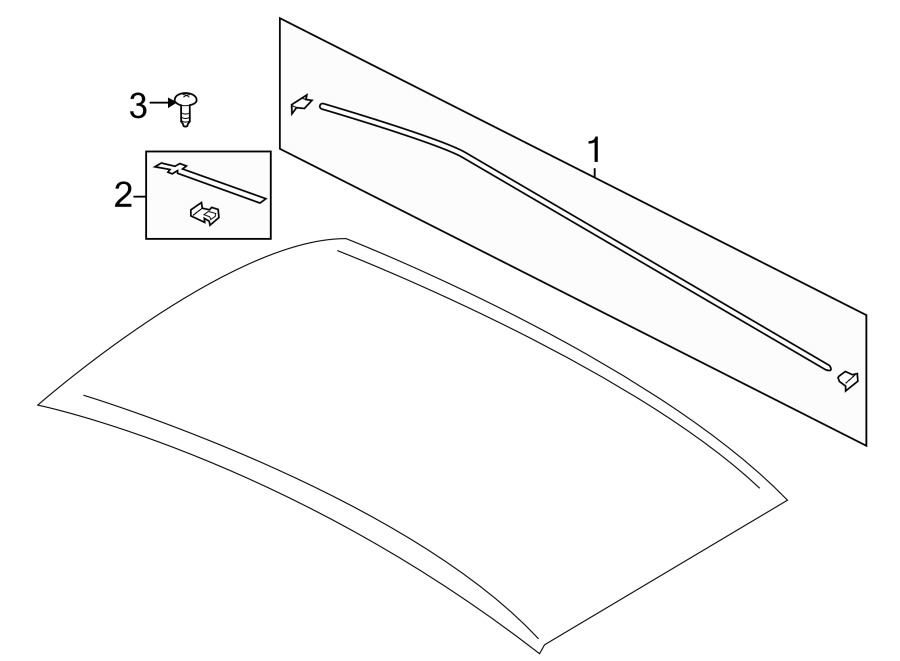 Ford Escape Roof Molding (Upper). Molding. Roof. Extension