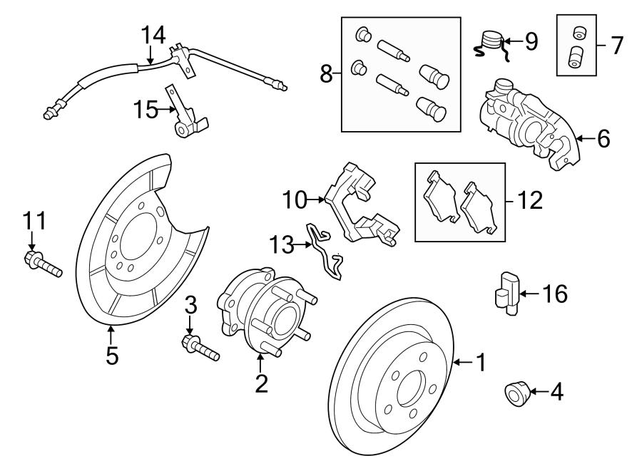 2015 Ford Escape Brake pads. Disc Brake Pad Set. PAD