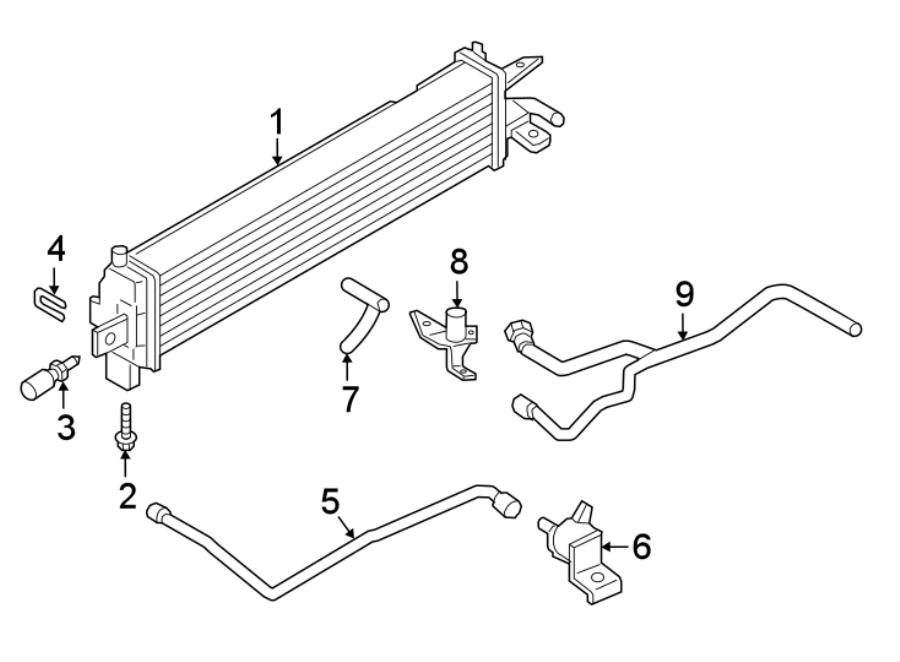 Ford Escape Radiator. LITER, Cooling, INTERCOOLER