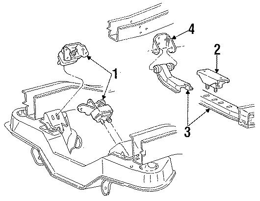 Ford Aerostar Manual Transmission Mount. LITER, HEAD