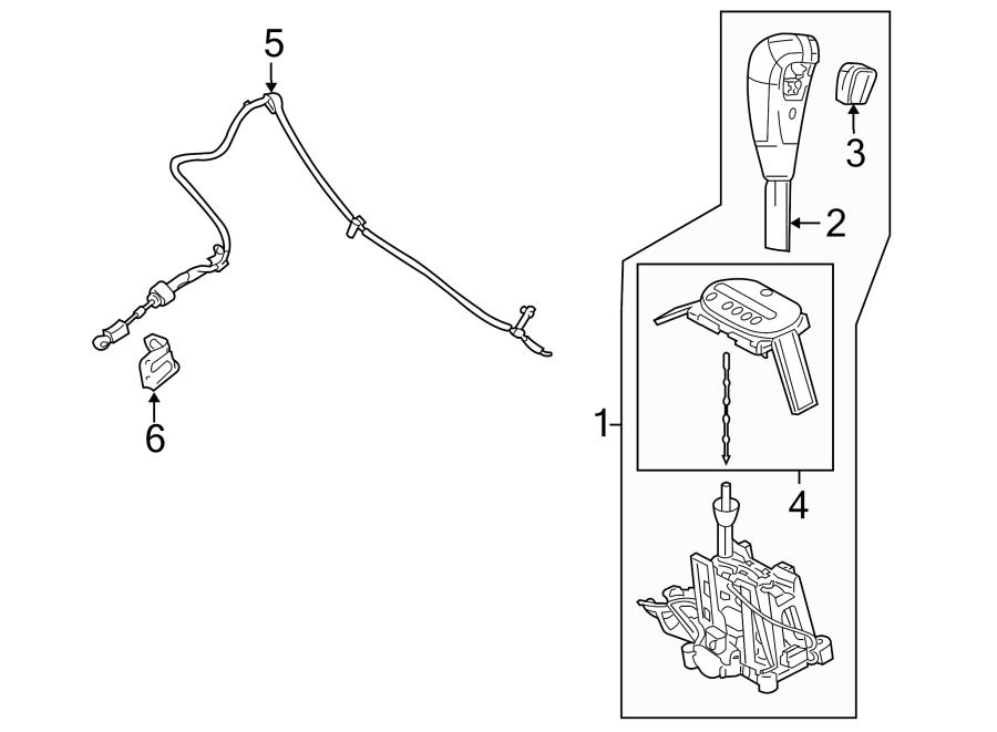2005 Ford Escape Automatic Transmission Shift Lever Knob