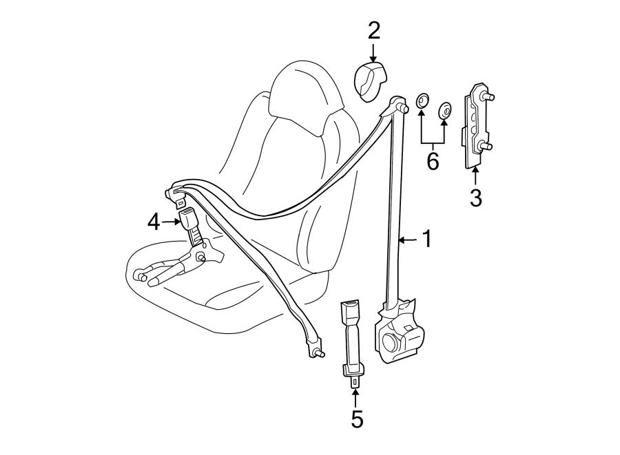 Ford Escape Seat Belt Extension (Upper). FRONT