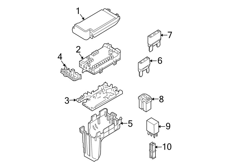 2009 Ford Circuit breaker assembly. Mini fuse. Amp