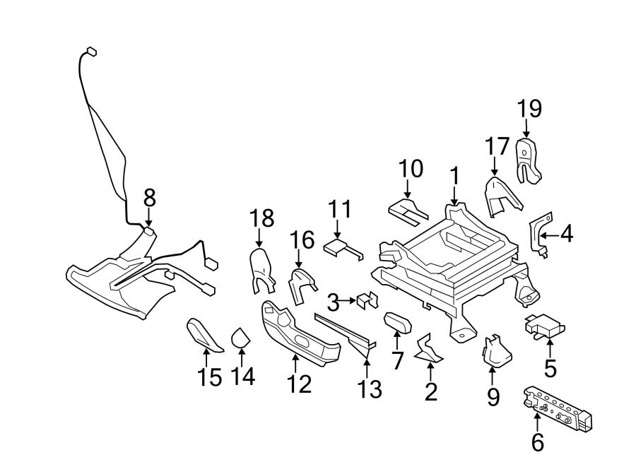 2010 Ford Edge Sensor. Air. Position. Bag. Seat, PASSENGER
