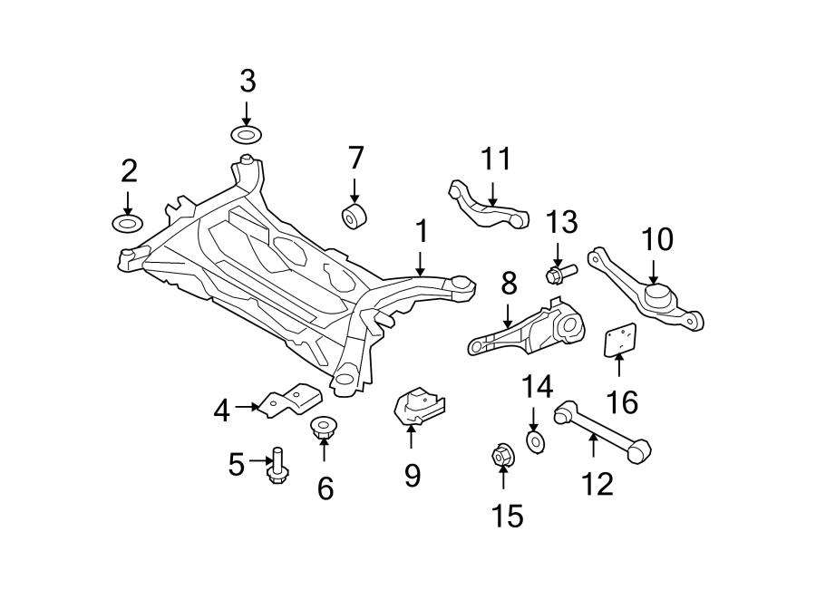Ford Edge Arm. Suspension. Control. Trailing. (Rear, Upper