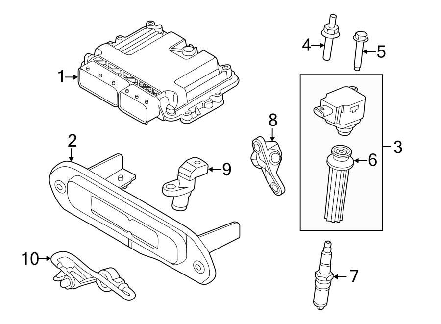 2013 Ford Escape Camshaft position sensor. Camshaft sensor