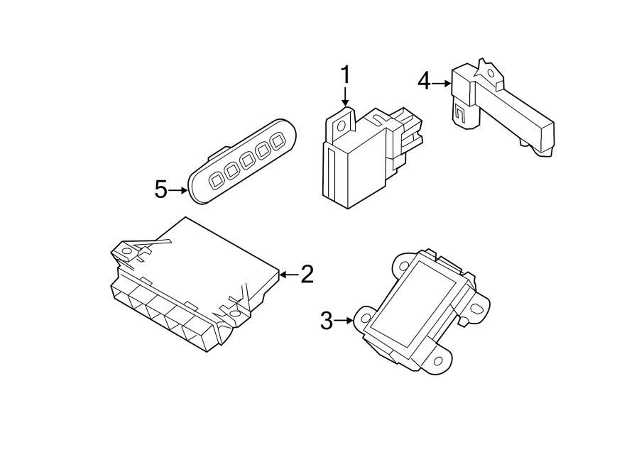 Ford Edge Control module. Receiver. Radio remote control