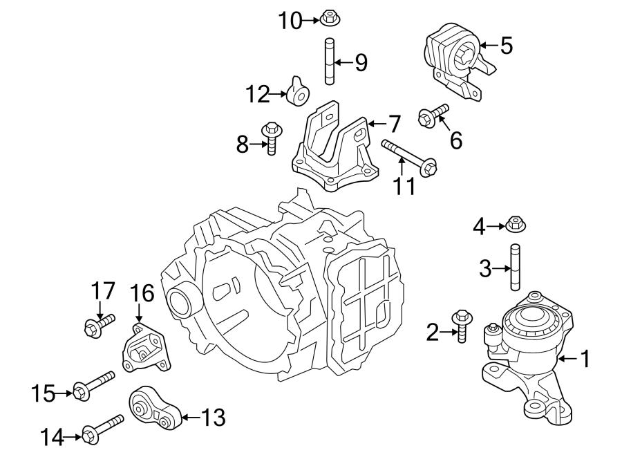 Ford Edge Engine Torque Strut. 2.0 LITER. Edge. BEARINGS