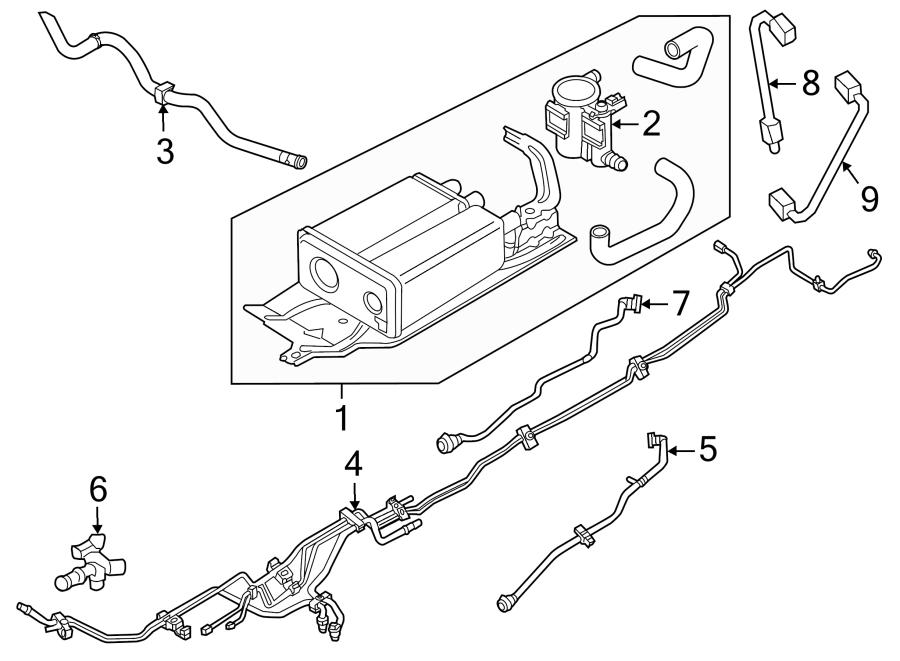 Ford Edge Valve. Purge. Solenoid. LITER, Emission