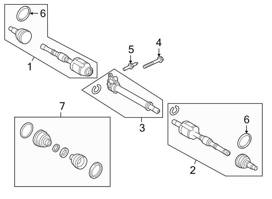 2014 Ford Edge Cv intermediate shaft. Wawd, right, axles