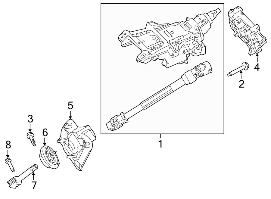 Ford Edge Steering Column Shaft Seal. W/MANUAL TILT-SLIDE