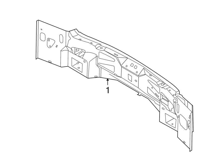 Ford Edge Rear Body Panel (Rear). Vent, Sill, Grille