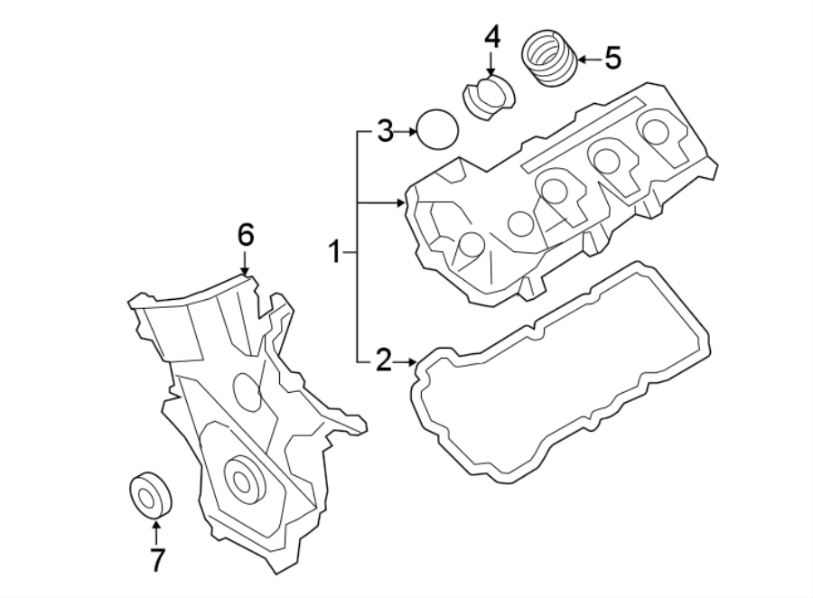 Ford Focus Seal. Valve cover inner seal. Valve cover rear