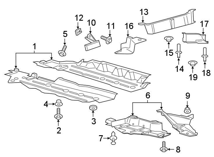 Ford Edge Floor Pan Splash Shield Screw (Front, Rear