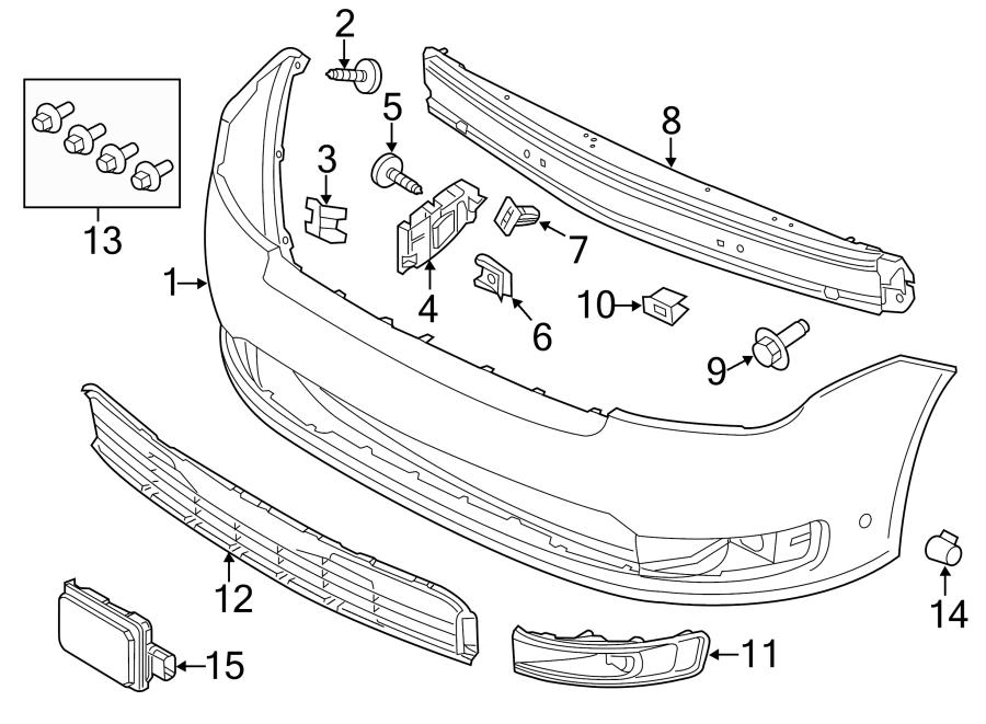 2014 Ford Flex Bumper Impact Bar (Front). LITER