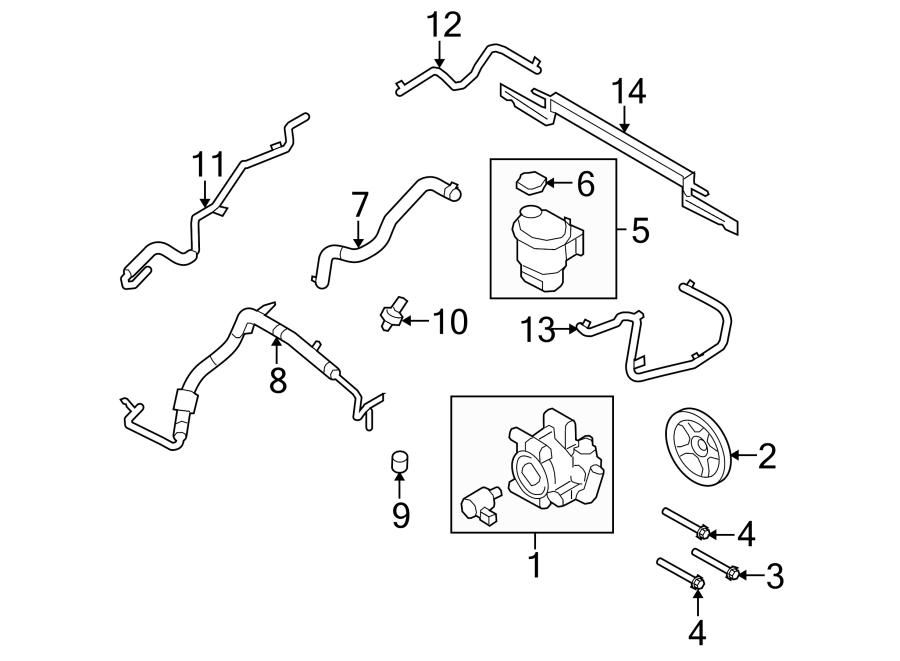 Ford Flex Power Steering Pressure Hose. Gear, Pump, Oil