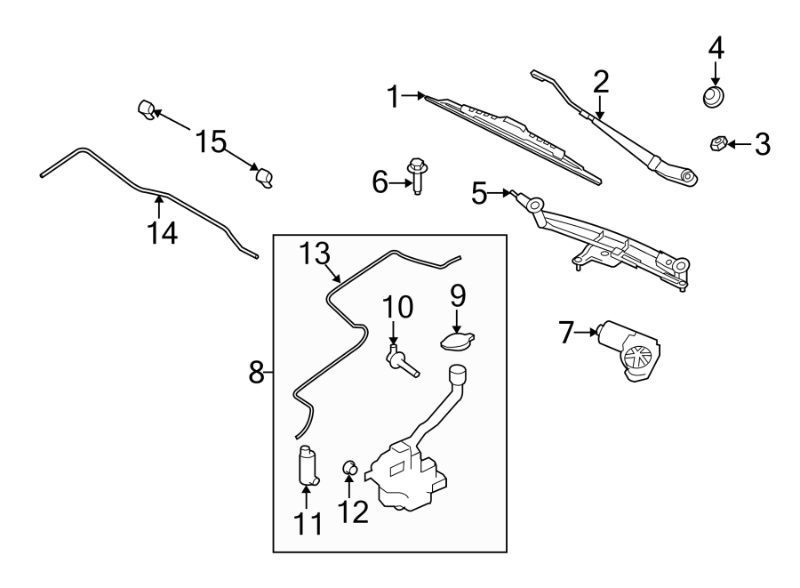 2012 Ford Flex Washer Fluid Level Sensor. WINDSHIELD