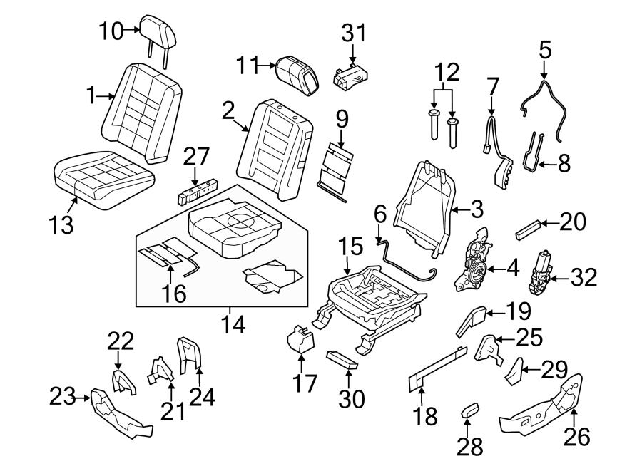 Ford Explorer Seat Heater Control Module. SeatS, Left
