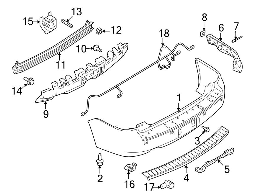 Ford Flex Parking Aid System Wiring Harness. 2013-19, w/o