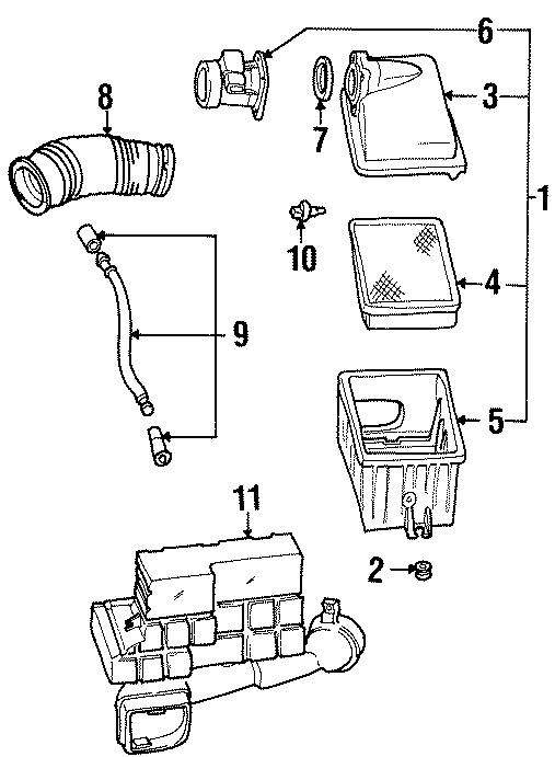 Ford Windstar Air Filter. LITER, Engine, INTAKE
