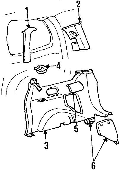 Ford Windstar Speaker cover. PASSENGER SIDE. TRIM, Right