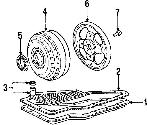 1995 Ford Windstar Transmission pan. 3.0 liter. 3.8 liter