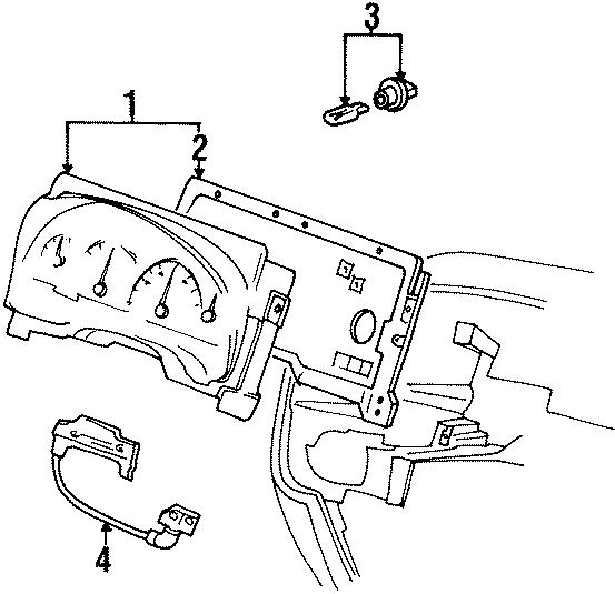 1999 Ford Windstar Automatic Transmission Shift Indicator
