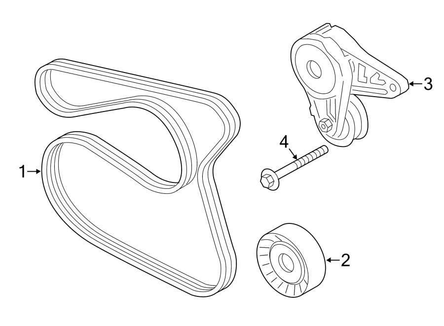 Ford Fiesta Accessory Drive Belt Tensioner Assembly. LITER