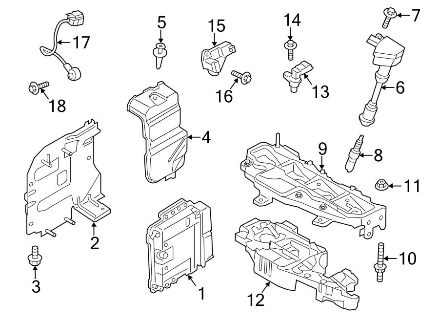 Ford Fiesta Ignition Coil Stud. 1.6 LITER. 1.6 LITER TURBO