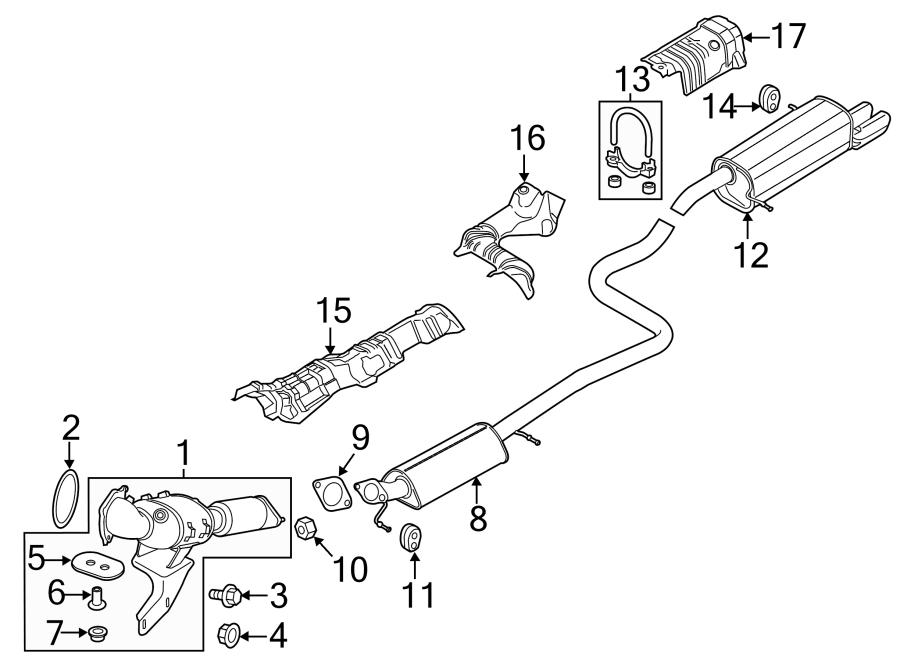 2016 Ford Fiesta Floor Pan Heat Shield (Rear, Upper, Lower
