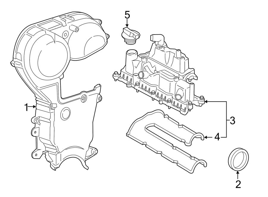 Ford Fiesta Engine Valve Cover Gasket. LITER, TIMING