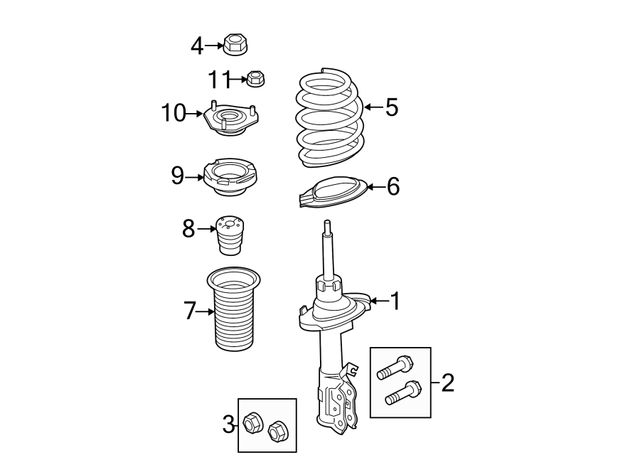 Ford Fiesta Suspension Strut Bearing. 2011-13. 2014-18