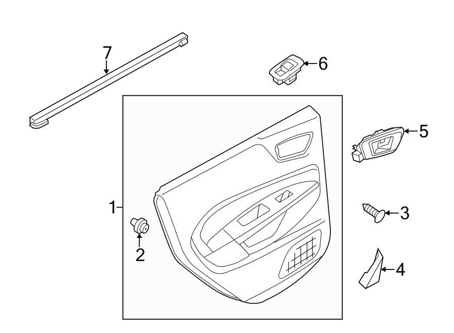 2013 Ford Escape Body Trim Parts Diagram. Ford. Auto