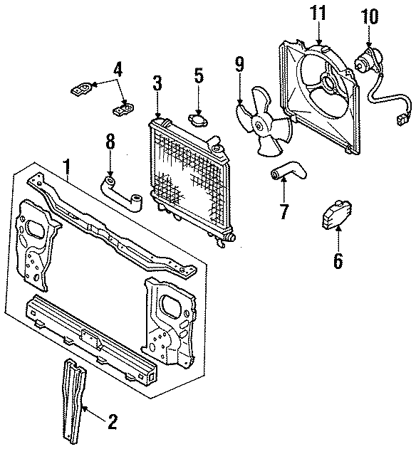 Ford Festiva Support ASSEMBLY. MANUAL TRANS. COOLING