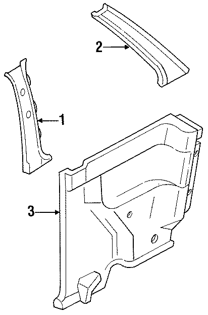 Ford Festiva Pillar panel. TRIM, Right, QUARTER, INTERIOR