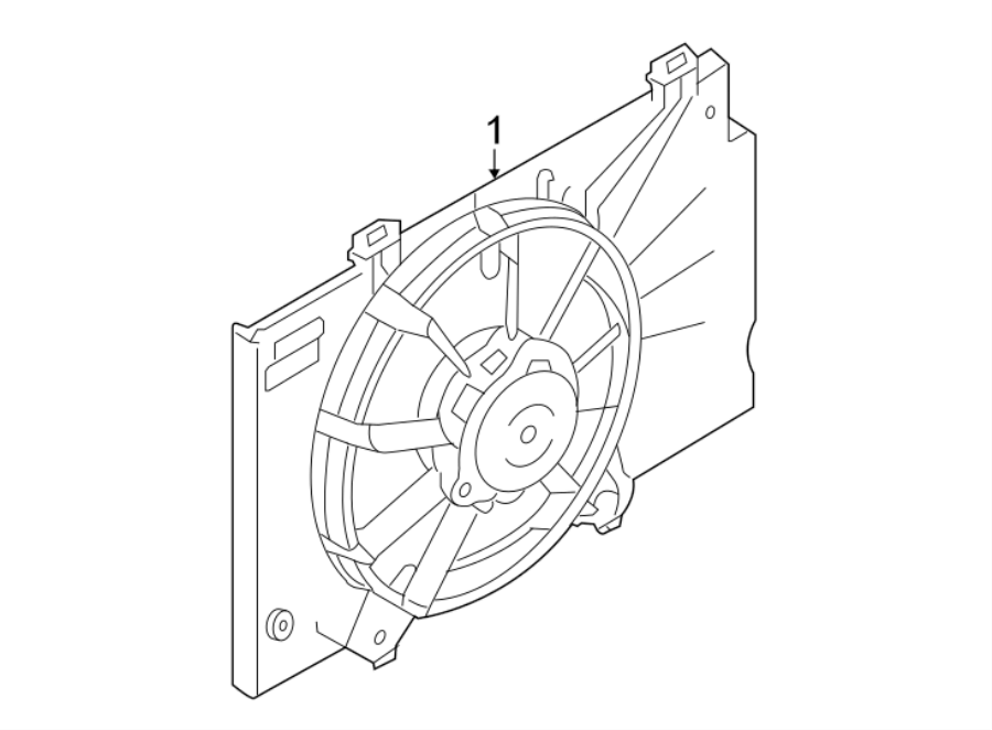 Ford EcoSport Engine Cooling Fan Assembly. 1.0 LITER, from
