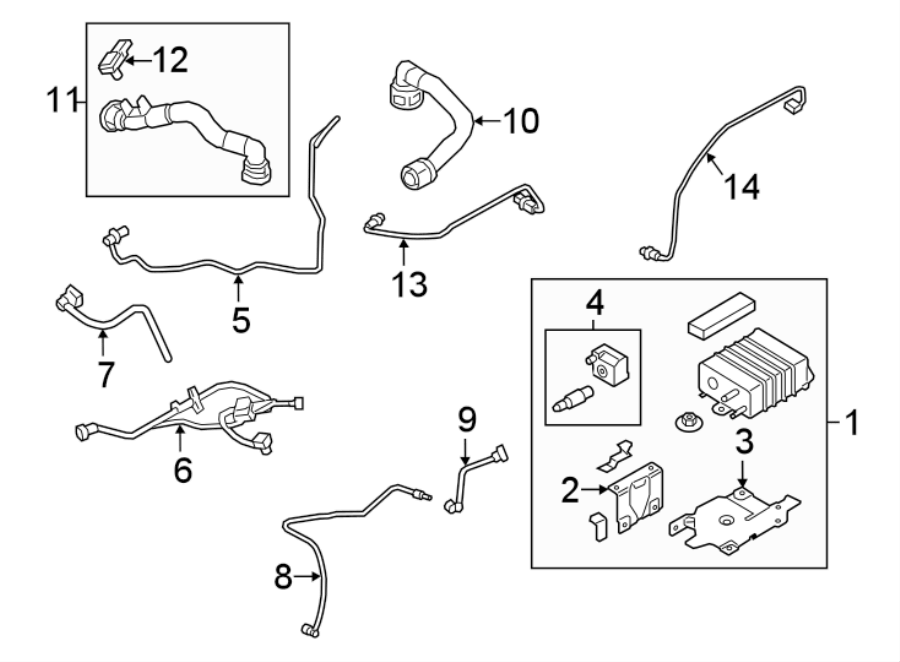Ford Escape Sensor assembly. Included with: tube assembly