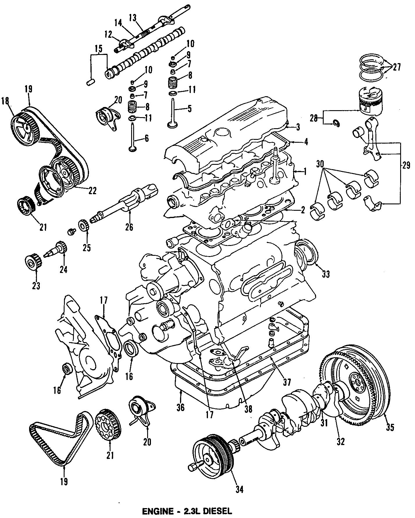 Ford Ranger Front mount. 2.3 LITER DIESEL, front, 2WD
