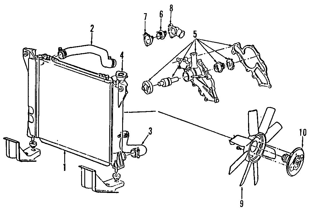 Ford Explorer Upper hose. Trans, RADIATOR, Manual
