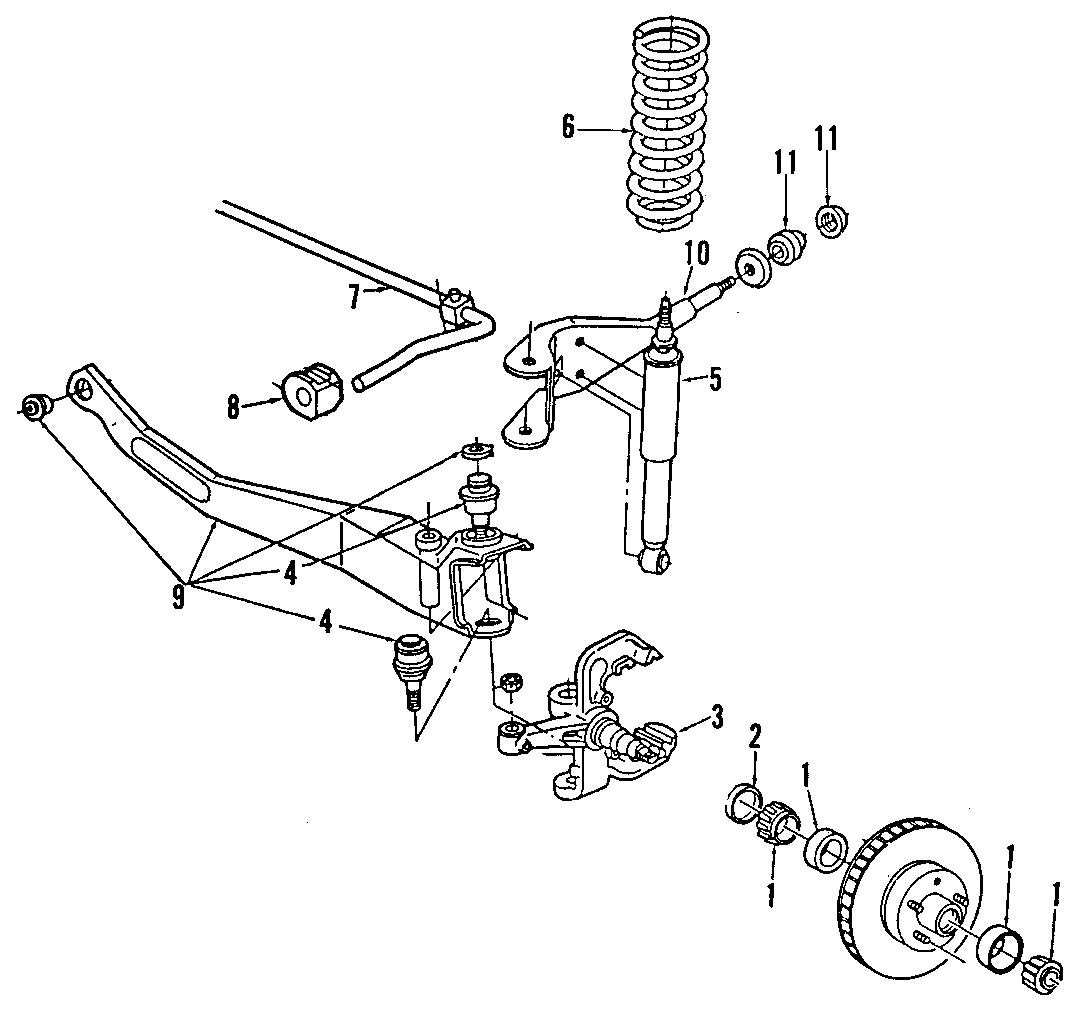 Ford Explorer Bushings. Stabilizer bar insulator. 2wd. 4wd
