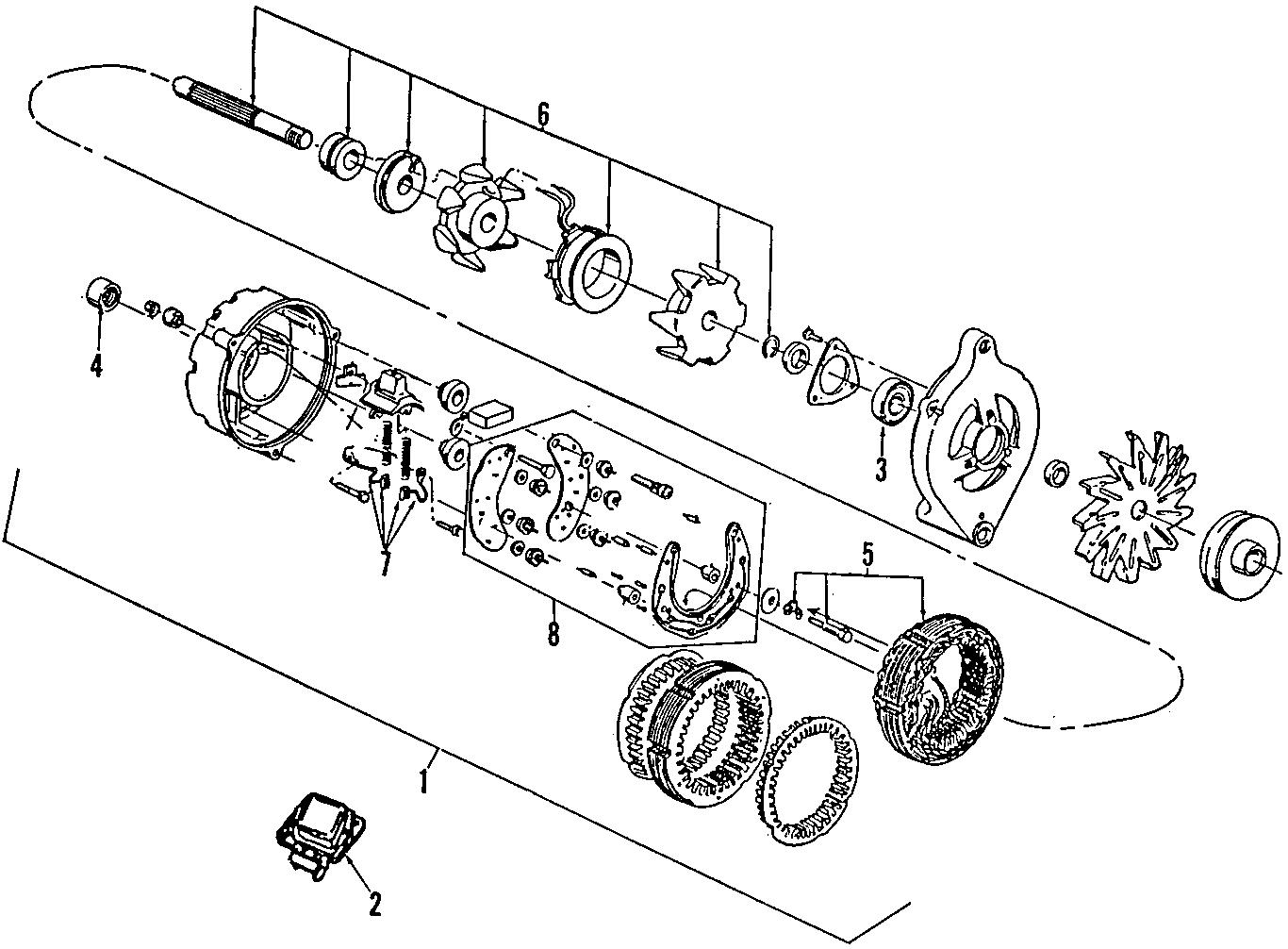Ford Alternator Assembly Amp Regulator Liter