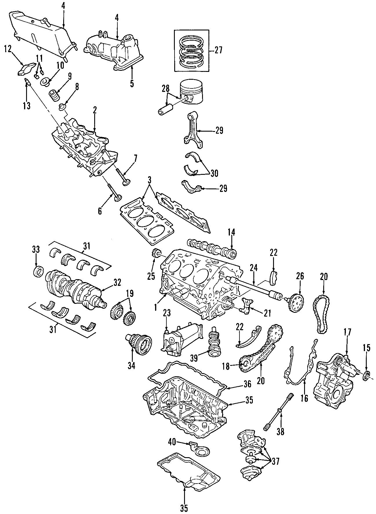 Ford Explorer Engine Oil Pan Gasket Upper Lower