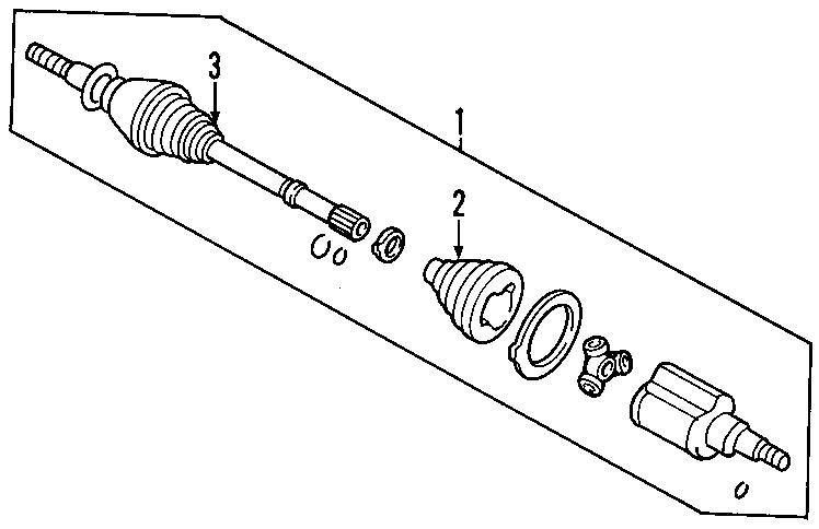 2006 Ford Escape Cv intermediate shaft. Trans, manual