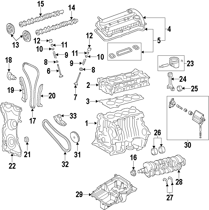 2014 Ford Escape Engine Crankshaft Seal (Rear). BEARINGS